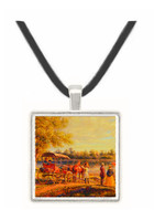Waiting for the Ferry - Edward Lamson Hery -  Museum Exhibit Pendant - Museum Company Photo