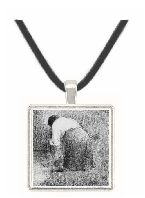 Washerwoman by Seurat -  Museum Exhibit Pendant - Museum Company Photo