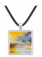 Waves breaking on a lee shore by Joseph Mallord Turner -  Museum Exhibit Pendant - Museum Company Photo