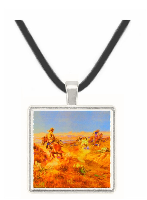 When Cows were Wild - Charles M. Russell -  Museum Exhibit Pendant - Museum Company Photo