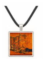 Wild Duck and Birds in a Snow Landscape - unknown artist -  Museum Exhibit Pendant - Museum Company Photo