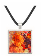 Woman Embroidering - Auguste Renoir -  Museum Exhibit Pendant - Museum Company Photo