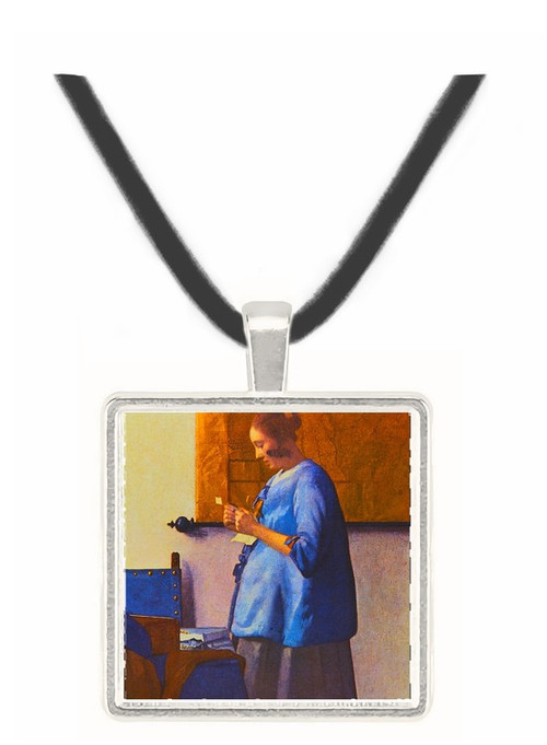 Woman in Blue - Jan Vermeer van Delft -  Museum Exhibit Pendant - Museum Company Photo