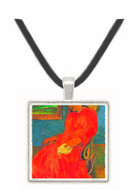 Woman in Red Dress by Gauguin -  Museum Exhibit Pendant - Museum Company Photo