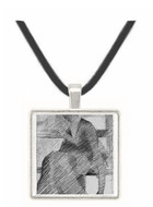 Woman on a bench by Seurat -  Museum Exhibit Pendant - Museum Company Photo