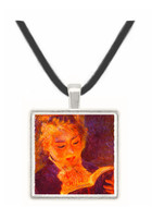 Woman Reading - Auguste Renoir -  Museum Exhibit Pendant - Museum Company Photo