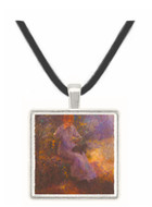 Woman with a black dog by Renoir -  Museum Exhibit Pendant - Museum Company Photo