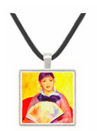 Woman with fan by Renoir -  Museum Exhibit Pendant - Museum Company Photo