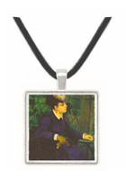 Woman with gull feather (Woman in the garden) by Renoir -  Museum Exhibit Pendant - Museum Company Photo