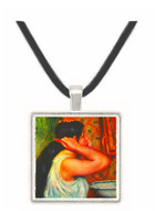 Woman with hair combs by Renoir -  Museum Exhibit Pendant - Museum Company Photo