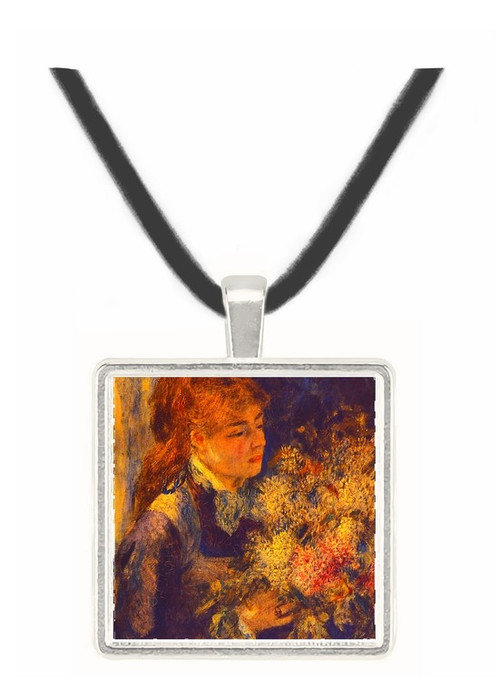 Woman with Lilacs - Auguste Renoir -  Museum Exhibit Pendant - Museum Company Photo