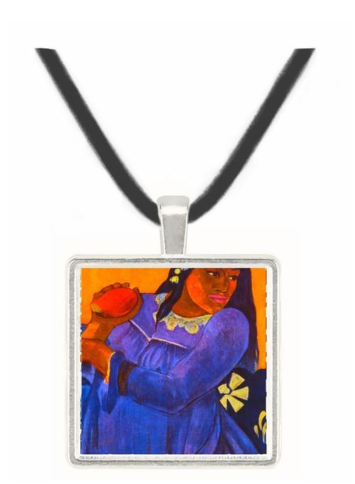 Woman with Mango - Paul Gauguin -  Museum Exhibit Pendant - Museum Company Photo