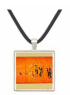 Women and Children in the Snow - unknown artist -  Museum Exhibit Pendant - Museum Company Photo