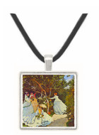 Women in the Garden by Monet -  Museum Exhibit Pendant - Museum Company Photo