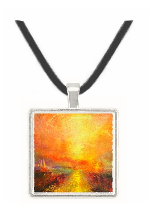 Yacht approaching the coast by Joseph Mallord Turner -  Museum Exhibit Pendant - Museum Company Photo