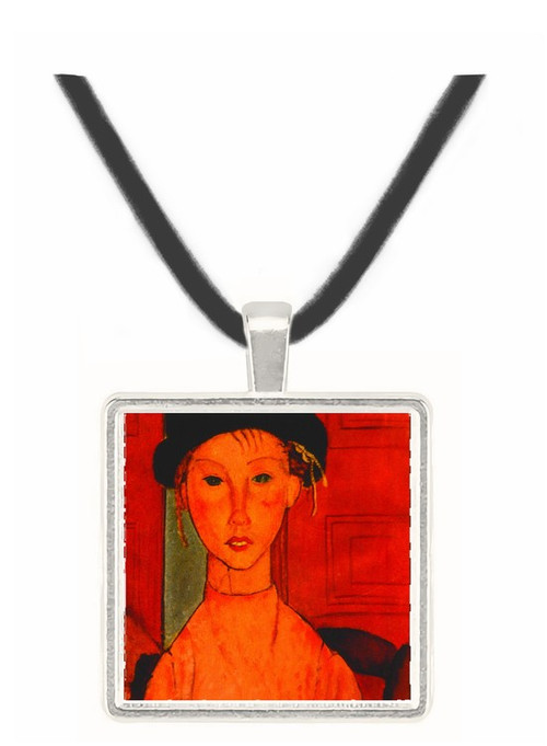 Young Girl in a Pink Apron - Amedeo Modigliani -  Museum Exhibit Pendant - Museum Company Photo