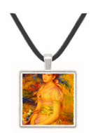 Young Girl with a Basket of Flowers - Auguste Renoir -  Museum Exhibit Pendant - Museum Company Photo