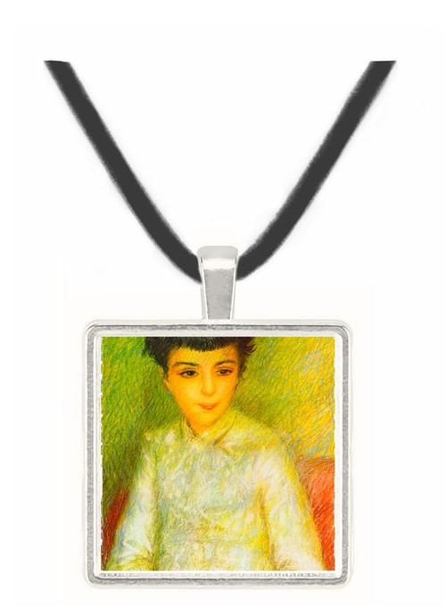 Young girl with brown hair -  Museum Exhibit Pendant - Museum Company Photo