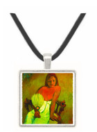 Young Girl with Fan by Gauguin -  Museum Exhibit Pendant - Museum Company Photo