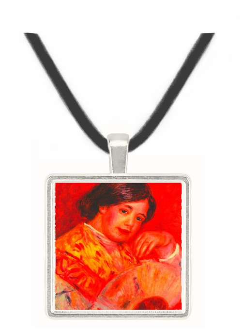 Young girl with fan by Renoir -  Museum Exhibit Pendant - Museum Company Photo