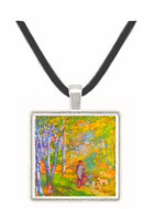 Young man in the forest of Fontainebleau by Renoir -  Museum Exhibit Pendant - Museum Company Photo