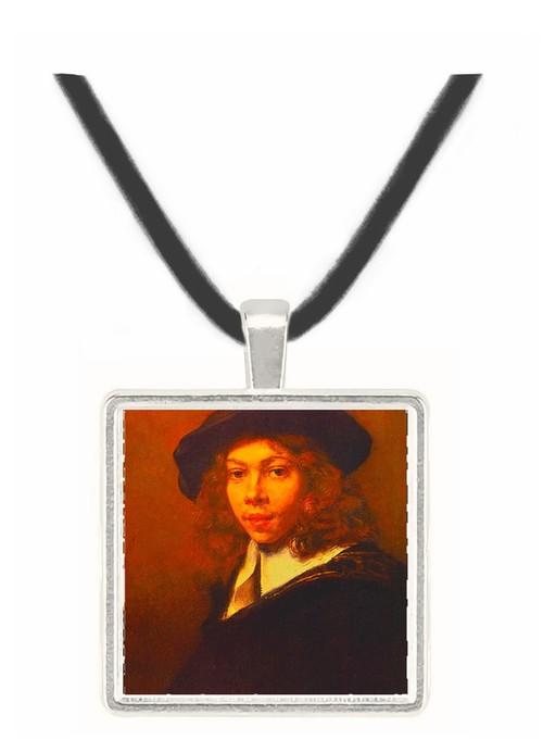 Youth with a Black Cap - Rembrandt Harmenszoon van Rijn -  Museum Exhibit Pendant - Museum Company Photo
