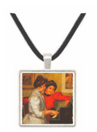 Yvonne and Christine Lerolle at the piano by Renoir -  Museum Exhibit Pendant - Museum Company Photo