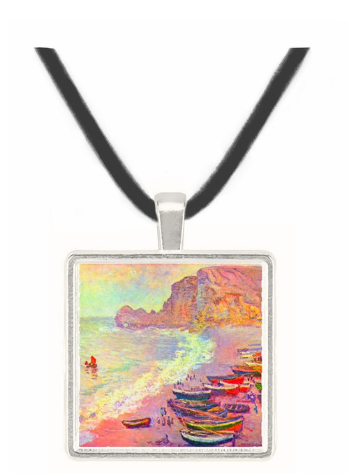 Étretat, the beach and La Porte d'Amont by Monet -  Museum Exhibit Pendant - Museum Company Photo