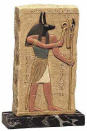 Anubis :  Temple of Abydos, Egypt. 19th Dynasty 1300 B.C. - Photo Museum Store Company