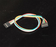 """6-pin female to female jumper wires with 0.1"""" spacing"""