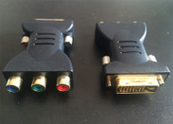 Male DVI to RCA Female Converter