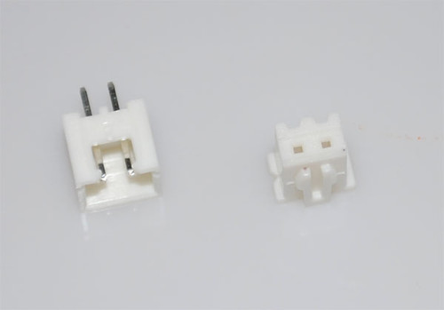 Polarized Connector and Housing (2-Pin, 2.54mm spacing)