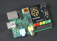 6-LED and Buzzer Add On Learning Shield for Raspberry Pi