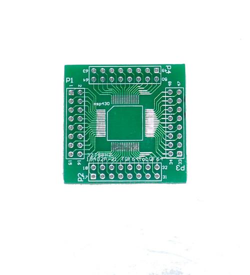 TQF64 to LQF64 Breakout MSP430 breakout board