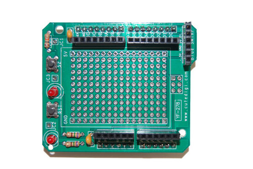 Assembled Protoshield for Arduino