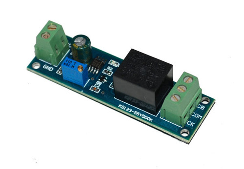 NE555 Based Relay with Delayed Output