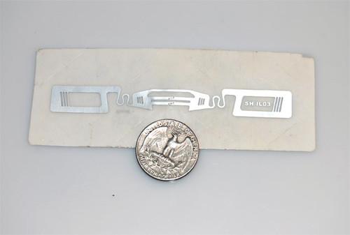UHF RFID transparent tag for flex surface (tape on back) , EPC Gen2 (900MHz)