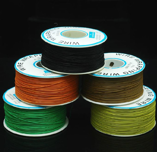 Wire Wrap Wire - Black (30 AWG) - 300 meters