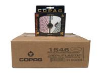 Copag 1546 Burg/Green Playing Cards -12 Sets - Reg. Index - Bridge