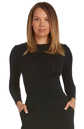 Tani Womens High Neck Long Sleeve Top 79276 Black Pure Magik