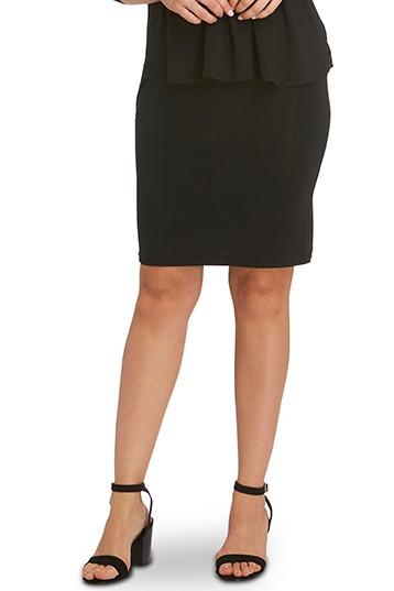Tani Womens Short Tube Skirt 9957 Black with heels