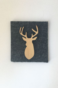 simplicity Stag Brooch Bamboo
