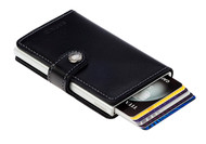 Click Secrid wallet lever and to others amazement, your cards will slide neatly out of the wallet, very cool.