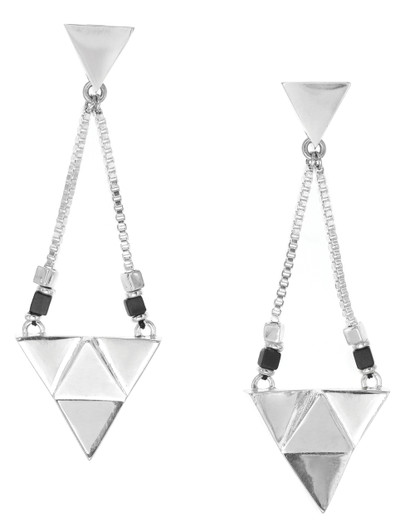 Ori Tao Big Hanging Triangle Earrings