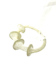 Woven Hand Knit Silver Bracelet BLB147S