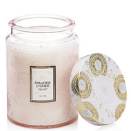 This inspirational candle scent features sublime notes of Panjore Lychee, Cassis and Juicy Asian Peare.