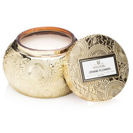 Hand poured into a stunning gold embossed Chawan vessel featuring VOLUSPA's signature Japonica print