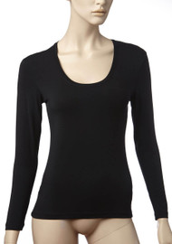 Basic Long Sleeve Scoop Black from Tani