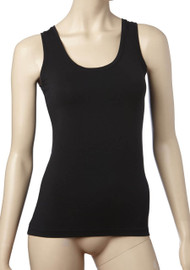 Basic Regular Scoop Tank Black from Tani