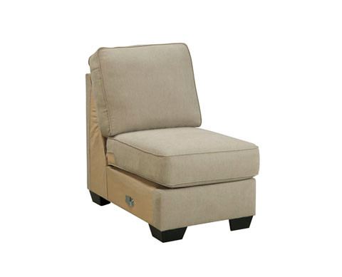 Perez Armless Chair Beige